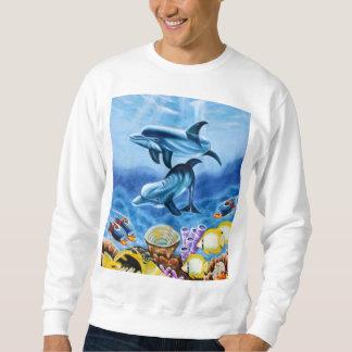 イルカおよび熱帯魚の芸術 スウェットシャツ
