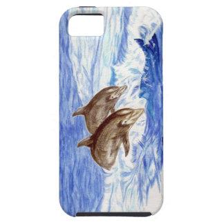 イルカと飾られるiPhoneの場合 iPhone SE/5/5s ケース