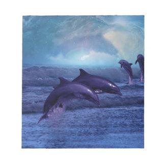 イルカのおもしろいおよび演劇 ノートパッド