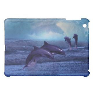 イルカのおもしろいおよび演劇 iPad MINIケース