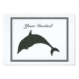 イルカのサイロのタイル、招待されるあなたの カード