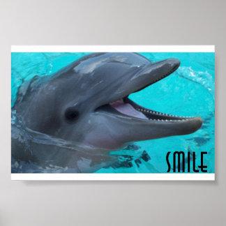 イルカのスマイルを共有して下さい ポスター