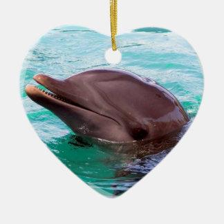 イルカのデザインのオーナメント セラミックオーナメント