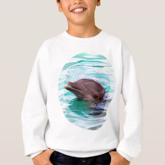 イルカのデザインの子供のスエットシャツ スウェットシャツ