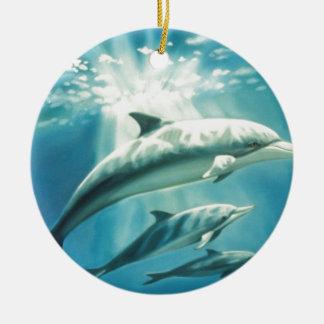 イルカのトリオ セラミックオーナメント