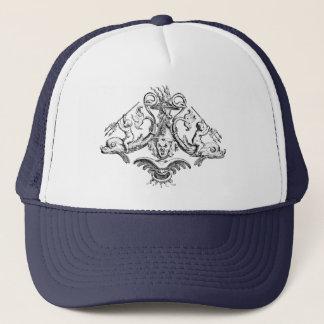 イルカの三叉の矛を持つ天使 キャップ