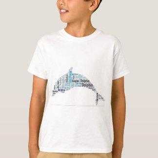 イルカの単語の芸術 Tシャツ