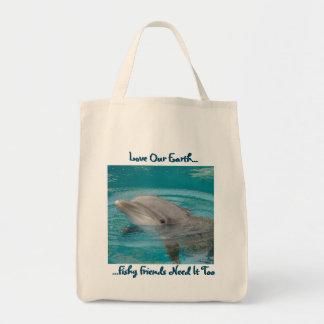 イルカの友人のトート トートバッグ