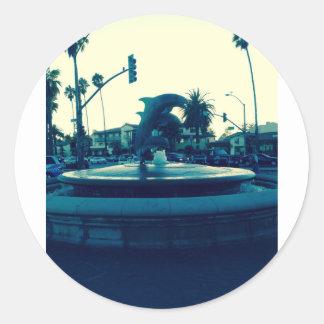 イルカの噴水 ラウンドシール