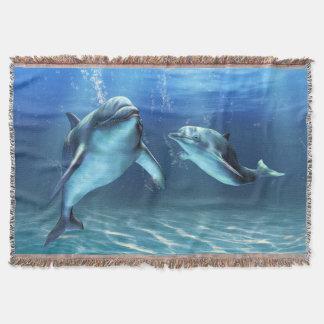 イルカの夢によって編まれるブランケット スローブランケット