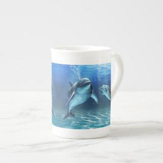 イルカの夢のティーカップ ボーンチャイナカップ