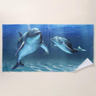イルカの夢のビーチタオル ビーチタオル