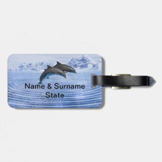 イルカの明白に青い海 ラゲッジタグ