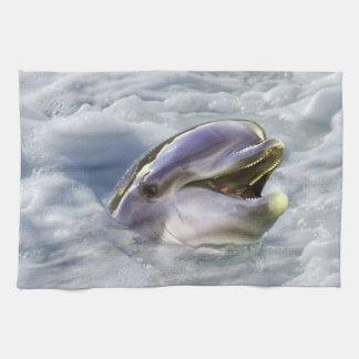 イルカの最も最高のなスマイル キッチンタオル