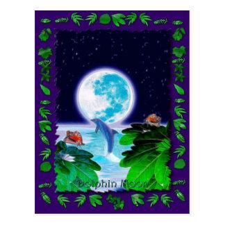 イルカの月の楽園の芸術シリーズ ポストカード