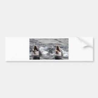 イルカの波水熱帯飛び込みの水泳の水中競技の生命 バンパーステッカー
