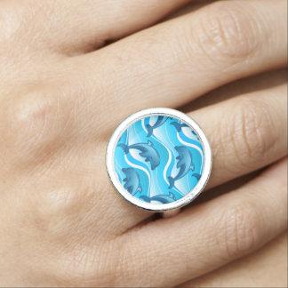 イルカの波跳躍の 指輪