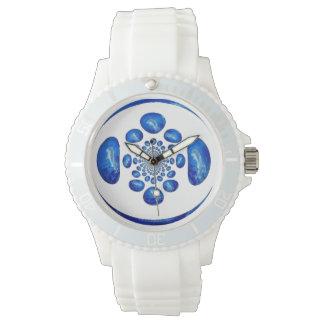 イルカの渦の渦巻形のな抽象美術 腕時計