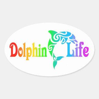 イルカの生命 楕円形シール
