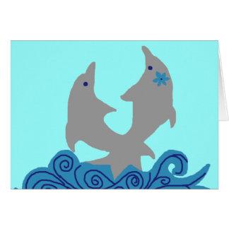 イルカの空白のなカードをねじること カード