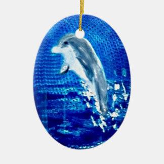 イルカの芸術の跳躍 セラミックオーナメント