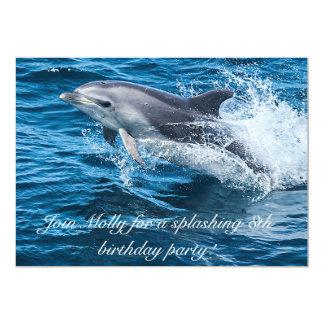 イルカの誕生日の招待状をはねかけること カード