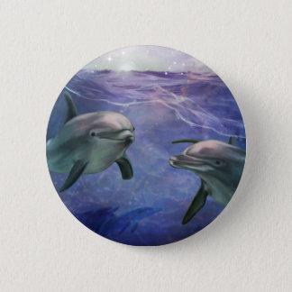 イルカの魔法 5.7CM 丸型バッジ