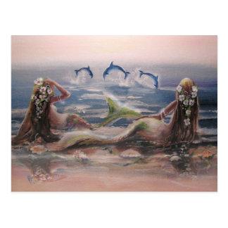 イルカ及び人魚の郵便はがき ポストカード