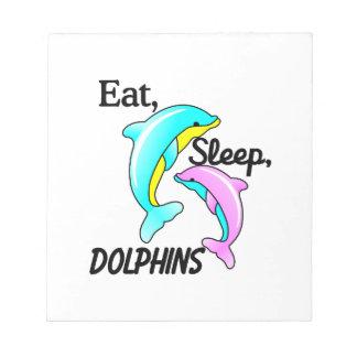 、イルカ食べて下さい、眠らせて下さい ノートパッド