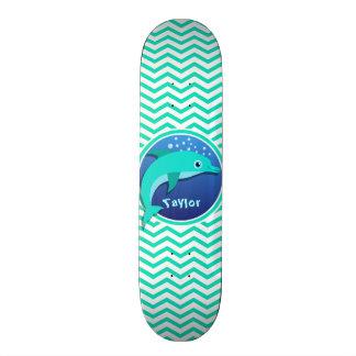 イルカ; 水緑のシェブロン スケートボード
