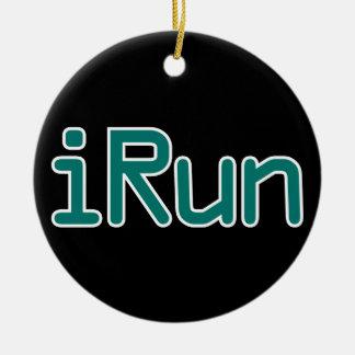 イルン-ティール(緑がかった色) (黒い輪郭) セラミックオーナメント