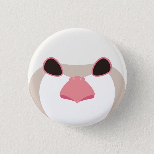 イワシャコ(アルビノ)-Chukar(albino) 3.2cm 丸型バッジ