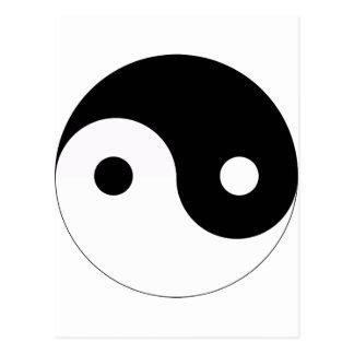 インおよびヤンは記号の宗教のタオの道教のバランスをとります ポストカード