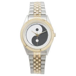 インおよびヤン(陰陽、陰陽、陰陽) 腕時計