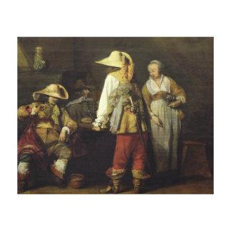 インのインテリア、1636年 キャンバスプリント