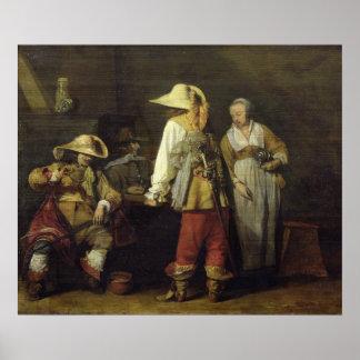 インのインテリア、1636年 ポスター