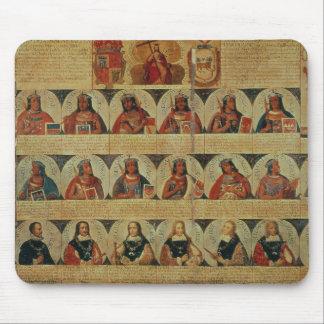 インカ人の定規および彼らのスペイン人の系図学 マウスパッド
