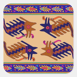 インカ人の種族の蛇 スクエアシール
