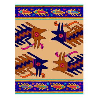 インカ人の種族の蛇 ポストカード