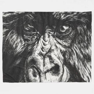 インクペンのゴリラ毛布 フリースブランケット