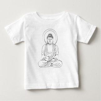 インク慈悲深い仏 ベビーTシャツ