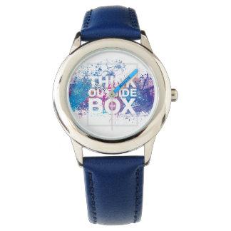 インク(ばちゃばちゃ)跳ねるの腕時計 腕時計