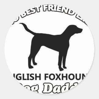 イングリッシュ・フォックスハウンド犬のお父さん ラウンドシール