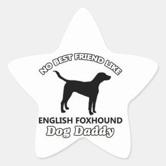 イングリッシュ・フォックスハウンド犬のお父さん 星シール