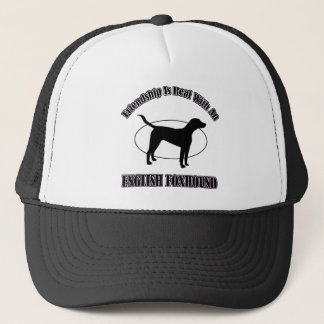 イングリッシュ・フォックスハウンド犬のデザイン キャップ