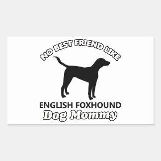 イングリッシュ・フォックスハウンド犬のデザイン 長方形シール