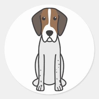 イングリッシュ・フォックスハウンド犬の漫画 ラウンドシール