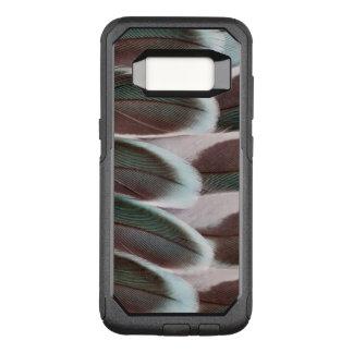 インコの翼の羽のデザイン オッターボックスコミューターSamsung GALAXY S8 ケース