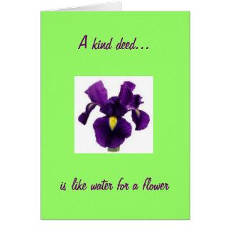 インスパイアアイリス花は感謝していしています カード