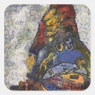 インスパイアフリーダ・カーロの蝶Monet スクエアシール